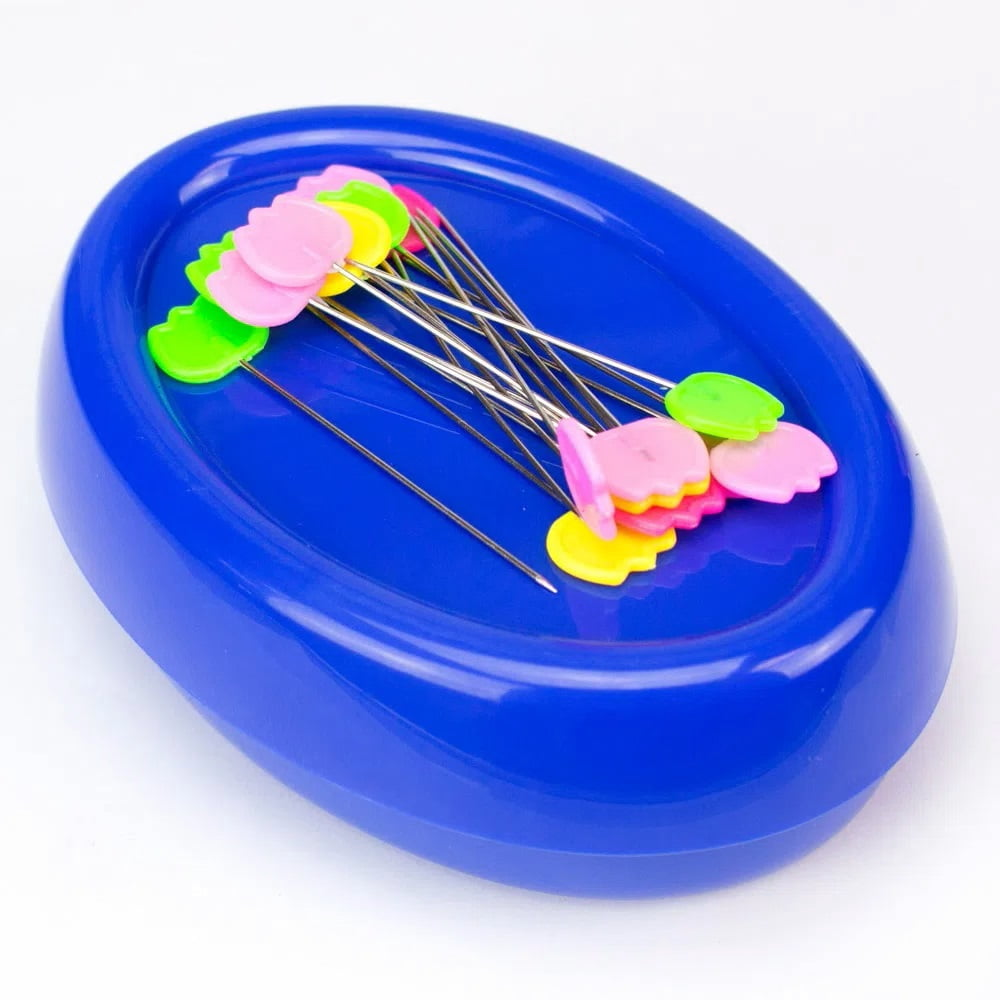Porta Alfinetes Magnético Azul