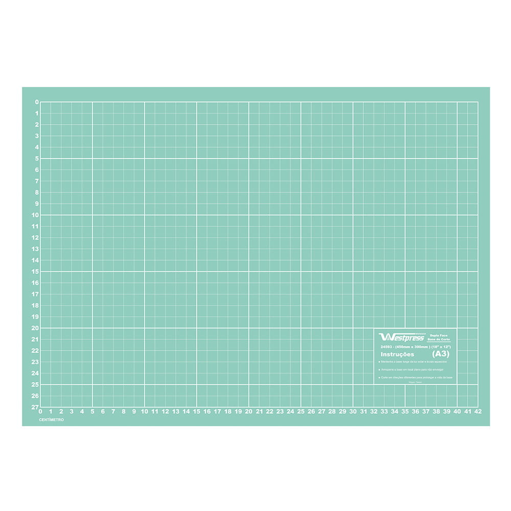 Placa para Corte de Tecidos 60 X 45 Azul Turquesa