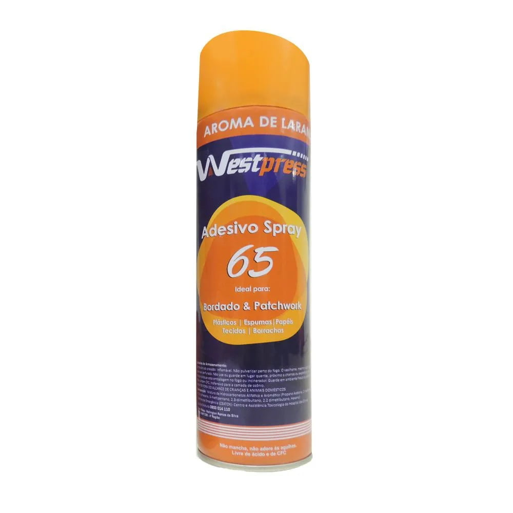 Cola Spray para Quilting Westpress 65 - Laranja