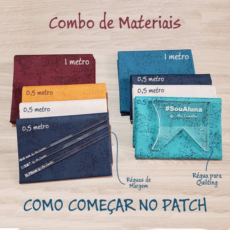 Combo de Materiais - Curso Como Começar no Patchwork + BRINDE SURPRESA!!