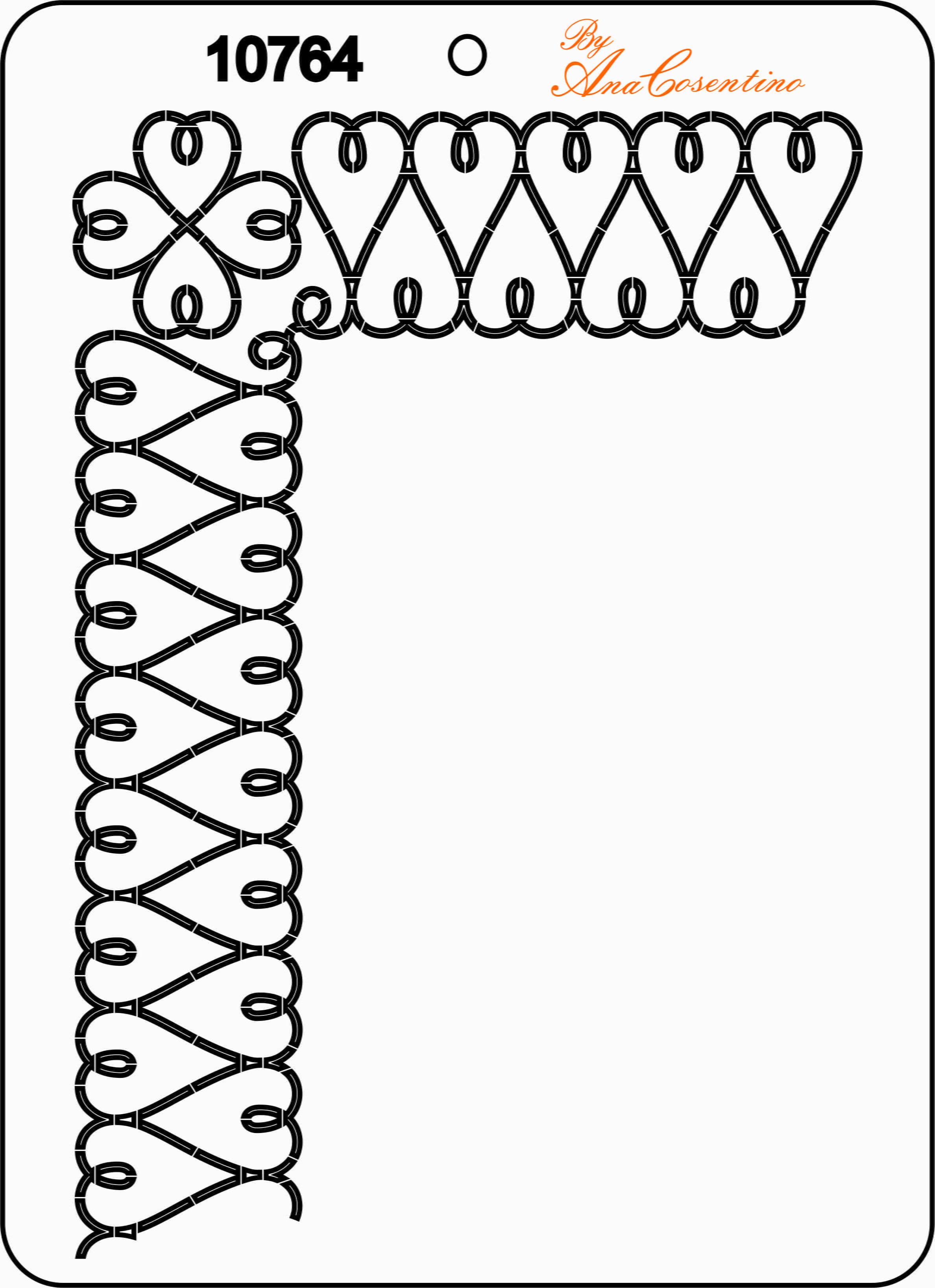 Estêncil de Quilting - 10764