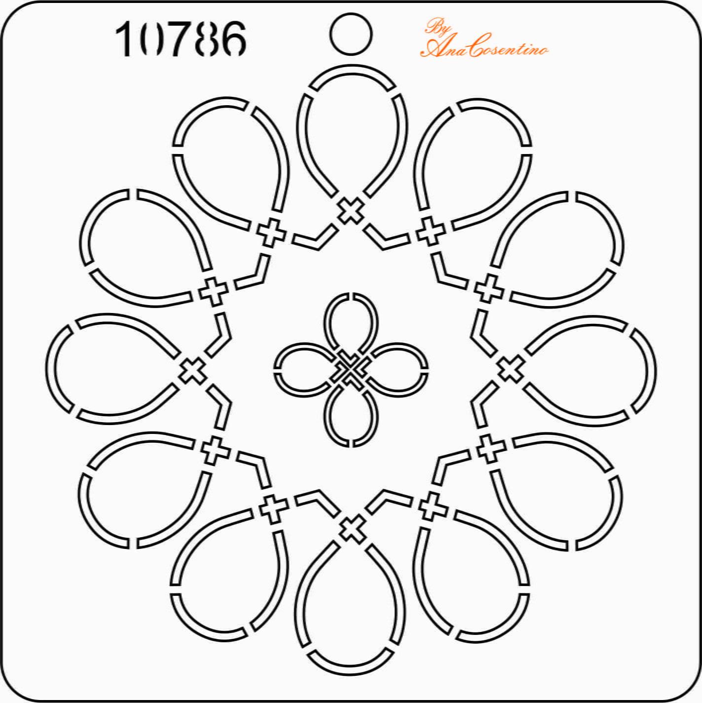 Estêncil de Quilting - 10786