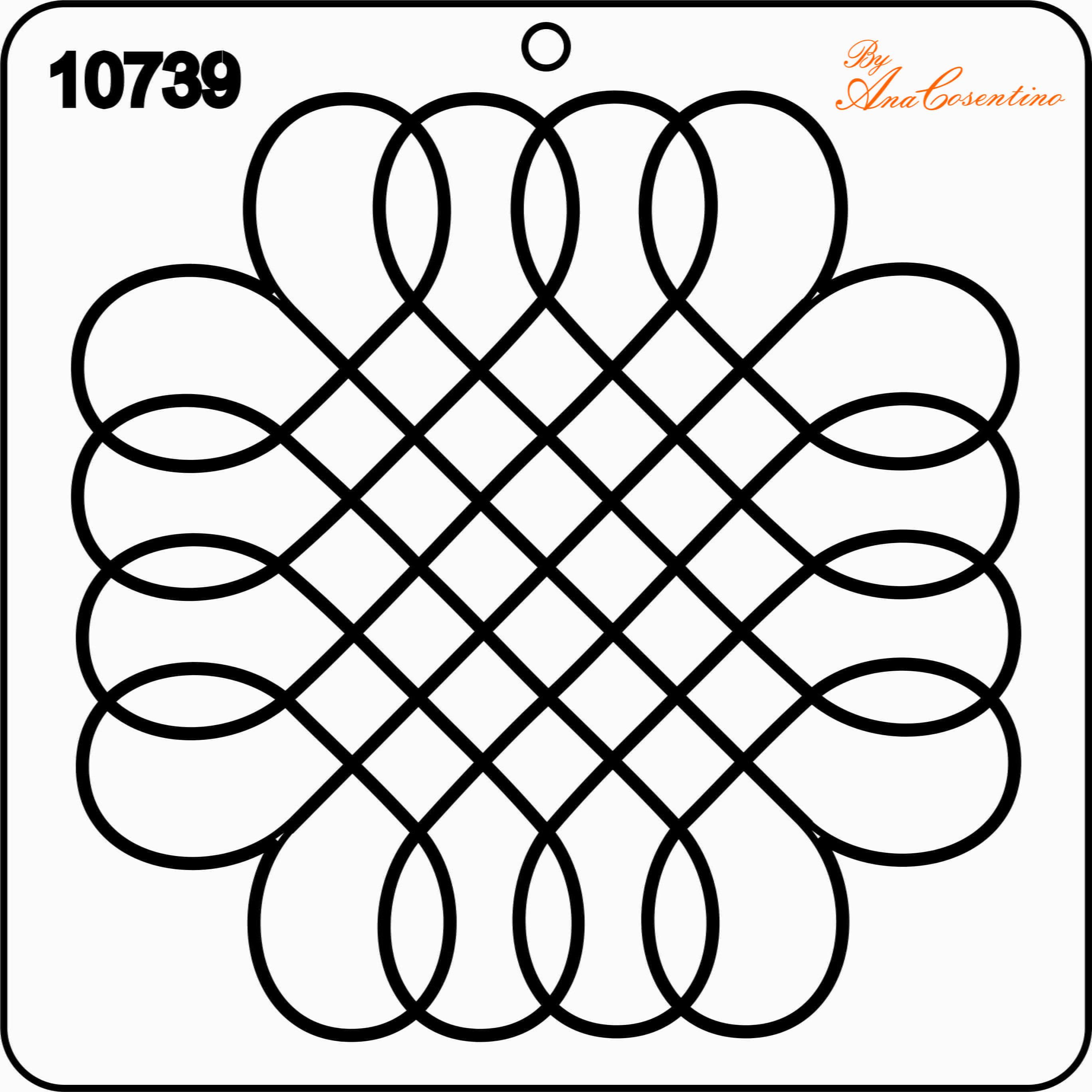 Estêncil de Quilting - 10739