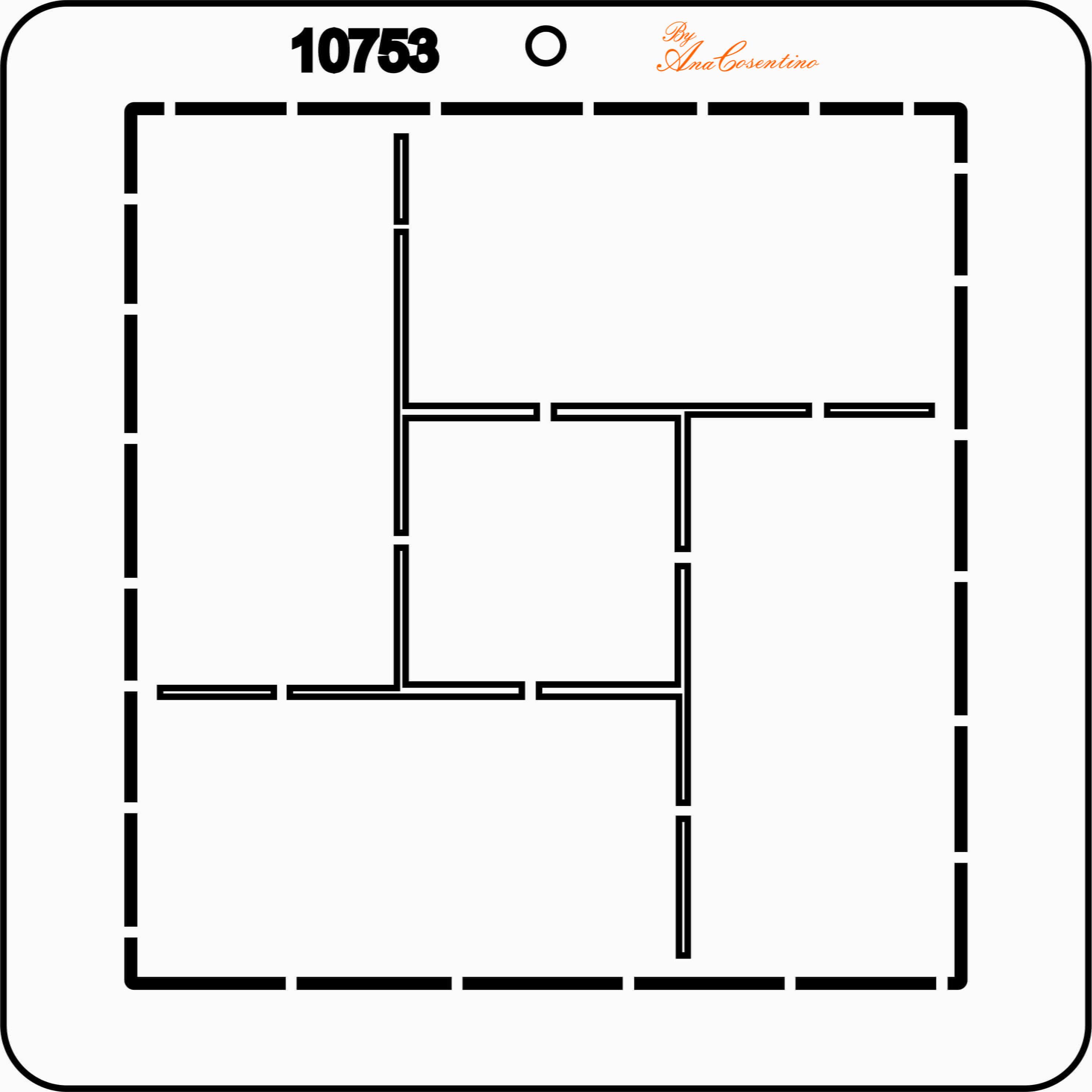 Estêncil de Quilting Diretrizes - 10753