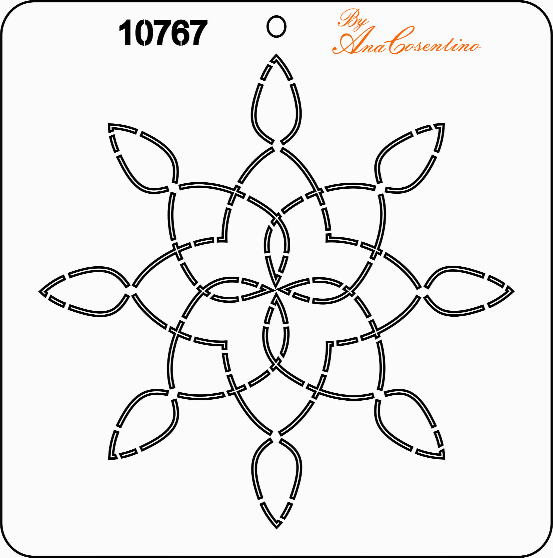 Estêncil de Quilting - 10767