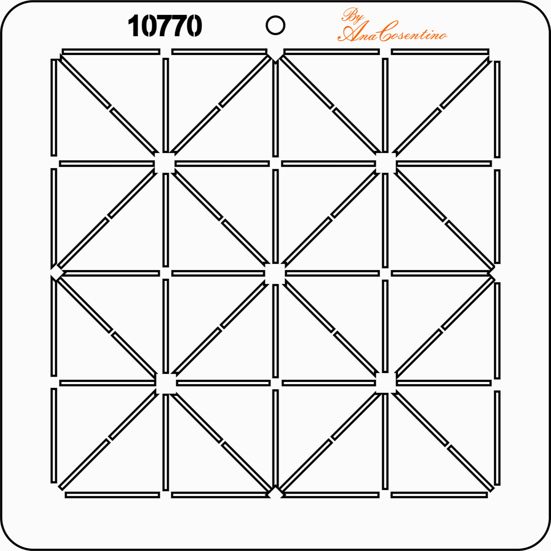 Estêncil de Quilting Diretrizes - 10770
