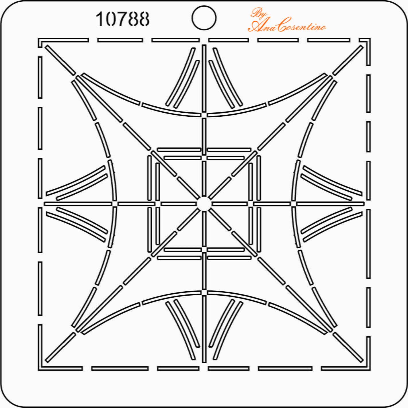 Estêncil de Quilting Diretrizes (Pequeno) - 10788