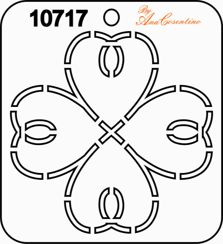 Estêncil de Quilting (Pequeno) - 10717