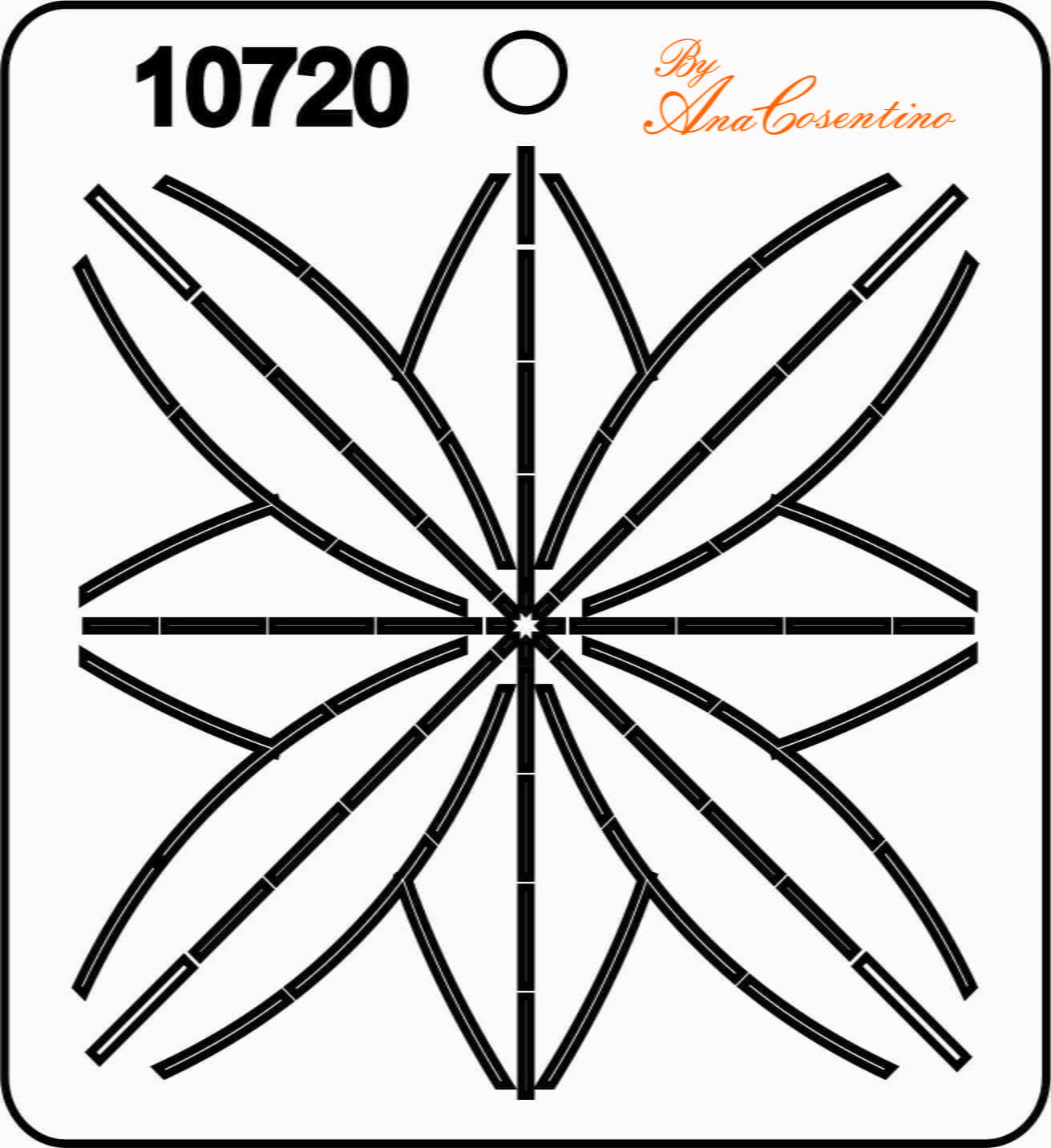 Estêncil de Quilting (Pequeno) - 10720