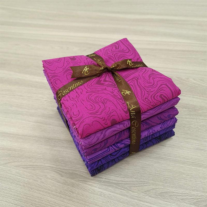 Kit de Tecidos para Patchwork Alecrim Coleção Malbec - Kit com 6 cores