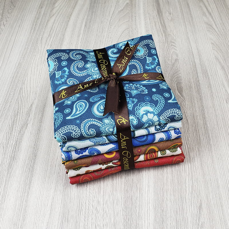 kit de Tecidos para Patchwork Alecrim Coleção Cashmere - Kit com 6 cores