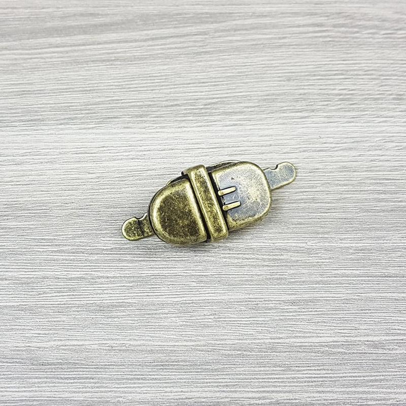 Fecho de Carteira/ Bolsa - Oval (Ouro Velho)