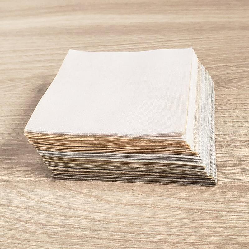 Kit Quadradinhos de Tecidos Alecrim 7,5x7,5cm Coleção Neutros