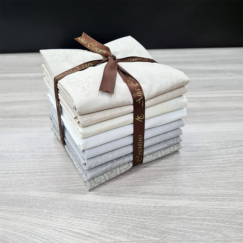 Kit de Tecidos para Patchwork Alecrim Coleção Neutros - Kit com 8 Cores