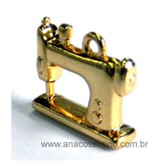 Pingente/Boton Máquina de Costura - Dourado