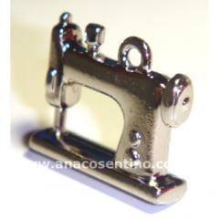 Pingente/Boton Máquina de Costura - Niquelado