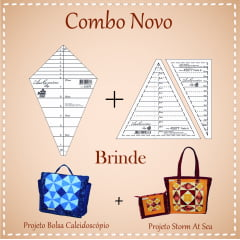 Combo Régua Caleidoscópio (45876) + Régua Storm (45877)+ Projetos de Brinde!!! (136 e 125) (45876