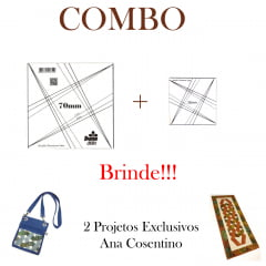 Combo Réguas Entrelaçadas + Projeto de Brinde!! (77 e 72)