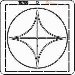 Estêncil de Quilting Diretrizes - 10756
