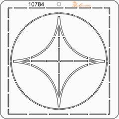 Estêncil de Quilting Diretrizes (Pequeno) - 10784