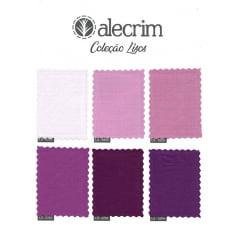 Kit de Tecidos para Patchwork Alecrim Coleção Lisos - Kit com 6 cores