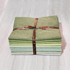 Kit Tecidos Alecrim com 10 cortes de 1m x 1,40m (Total de 10m no Kit) Coleção Amazônia
