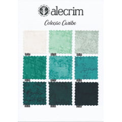 Kit Quadradinhos de Tecidos Alecrim 7,5x7,5cm Coleção Caribe