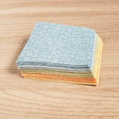 Kit Quadradinhos de Tecidos Alecrim 7,5x7,5cm Coleção Citra