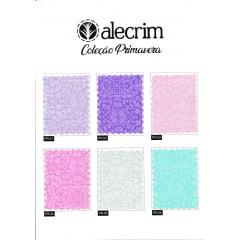 Kit Quadradinhos de Tecidos Alecrim 7,5x7,5cm Coleção Primavera