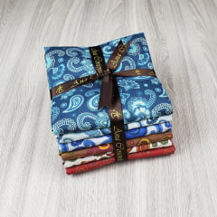 kit de Tecidos para Patchwork Alecrim Coleção Cashmere I - Kit com 6 cores