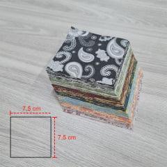 Kit Quadradinhos de Tecidos Alecrim 7,5x7,5cm Cashemre II