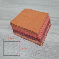 Kit Quadradinhos de Tecidos Alecrim 7,5x7,5cm Coleção Terracota