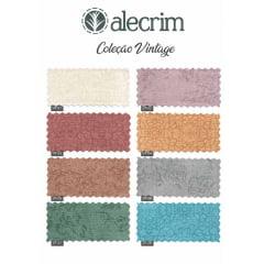 Kit Quadradinhos de Tecidos Alecrim 7,5x7,5cm Coleção Vintage