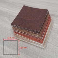 KIT QUADRADOS 12,5 X 12,5 CM Chocolate