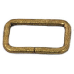 Argola Retangular - Ouro Velho 3,5cm