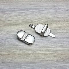 Fecho de Carteira/ Bolsa - Oval (Niquelado)
