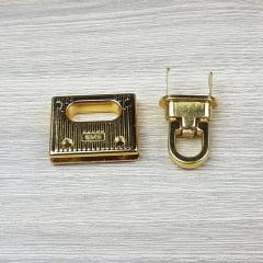Fecho de Carteira/ Bolsa - Retangular (Dourado)