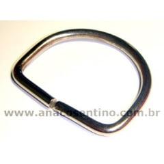Meia Argola Niquelada - 2,5cm