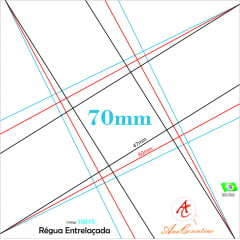 Régua entrelaçada grande 70mm - Ana Cosentino 10615