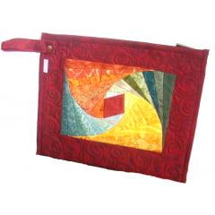 Projeto Porta Tablet Twist Log Cabin (080)
