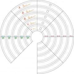 Diferenciais da Régua para Quilting Ana Cosentino 10516