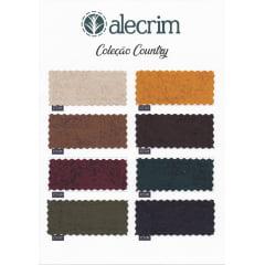 Kit de Tecido para Patchwork Alecrim Coleção Country Kit com 8 Cores