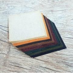 Kit Quadradinhos de Tecidos Alecrim 7,5x7,5cm Coleção Country