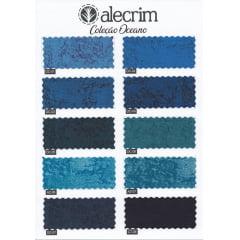 Kit Quadradinhos de Tecidos Alecrim - Coleção Oceano