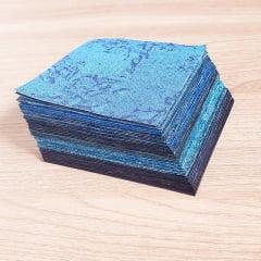 Kit Quadradinhos de Tecidos Alecrim 7,5x7,5cm Coleção Oceano
