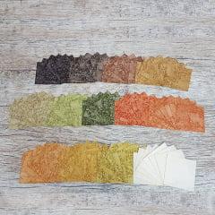 Kit Quadradinhos de Tecidos Alecrim - Coleção Outonal