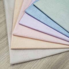 Kit de Tecidos para Patchwork Alecrim Coleção Pastéis - Kit com 6 Cores