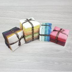 Kit Tecidos Alecrim - Quatro Coleções (Outonal/Caribe Antiga/Country/ Rubi)