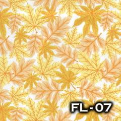 TRICOLINE 100% ALGODÃO ALECRIM TECIDOS FL-07 - Folhas Citra/Verão