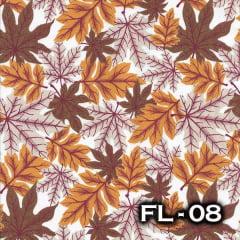 TRICOLINE 100% ALGODÃO ALECRIM TECIDOS FL-08 - Folhas Country